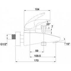 Смеситель KAISER Safira 15022 для ванны схема