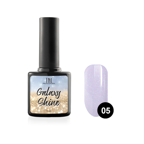 Гель-лак TNL Galaxy shine №05 - светло-фиолетовый с шиммером (10 мл.)