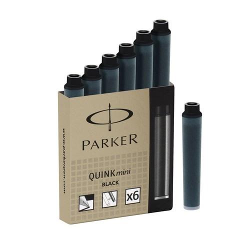 Картридж с чернилами для перьевой ручки MINI, упаковка из 6 шт., цвет: Black
