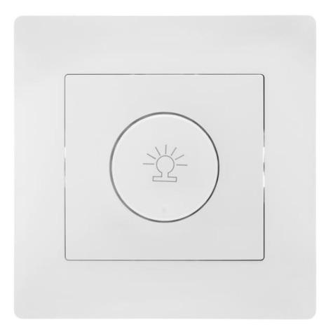 Светорегулятор/диммер поворотный с рамкой 500 W 220/250 В~. Цвет Белый. Bravo GUSI Electric. С10Д6-001-СБ