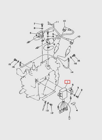 Коммутатор  для лодочного мотора T15, OTH 9,9 SEA-PRO (9-1)
