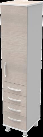 Шкаф медицинский общего назначения 1.02 тип 3 АйВуд Medical Office - фото
