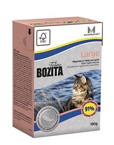 Bozita консервы для кошек крупных пород кусочки в желе с лососем 190г