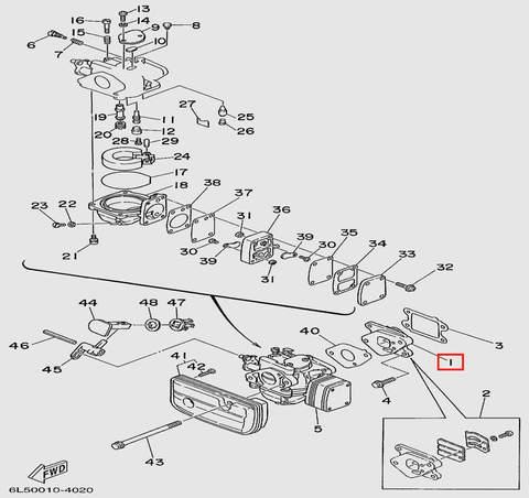 Клапан  для лодочного мотора T3S SEA-PRO (4-1)