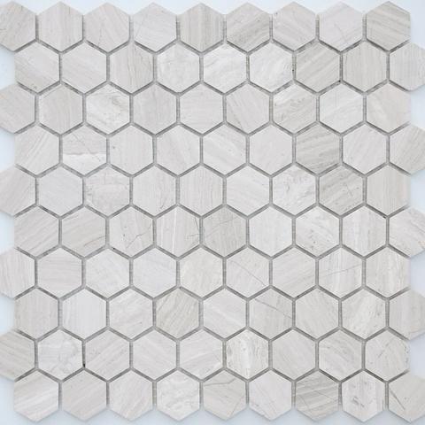Мозаика Travertino silver MAT hex 18x30x6 285х305