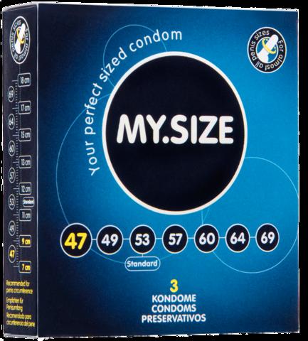 Презервативы MY.SIZE размер 47 - 3 шт.
