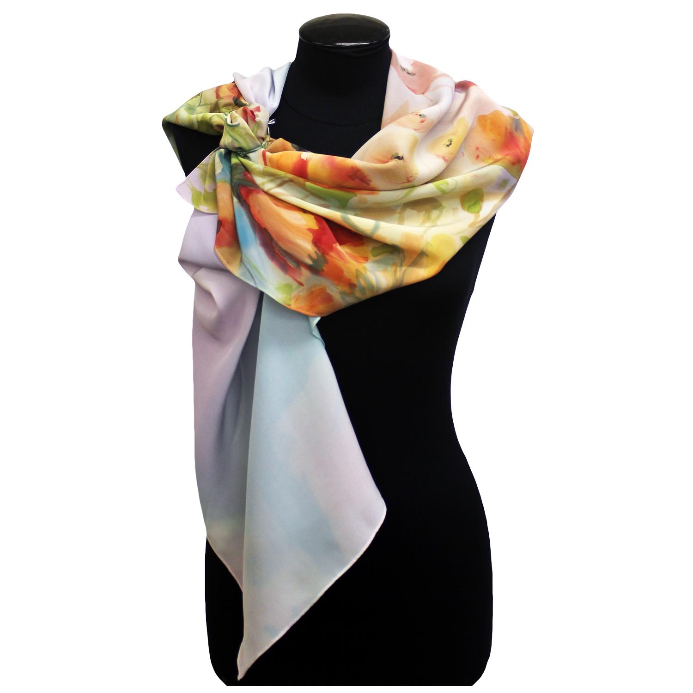Крепдешиновый шарф батик