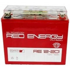 Аккумулятор 12V 18Ah (RE12201) RED ENERGY с индикатором заряда