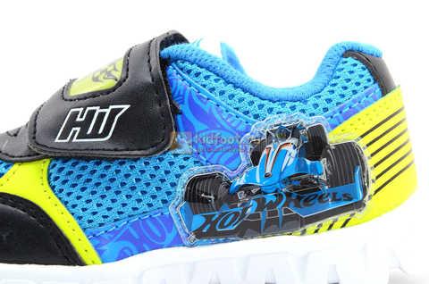 Светящиеся кроссовки Хот Вилс (Hot Wheels) на липучке для мальчиков, цвет синий. Изображение 14 из 15.