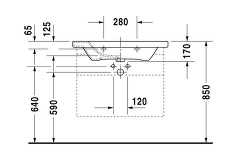 Раковина для мебели Duravit DuraStyle 2320800000 схема