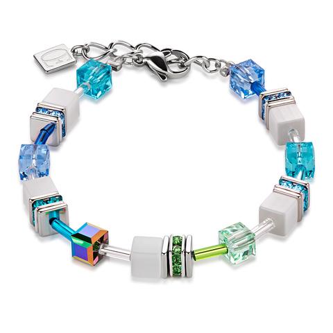 Браслет Coeur de Lion 2838/30-0731 цвет белый, зелёный, голубой
