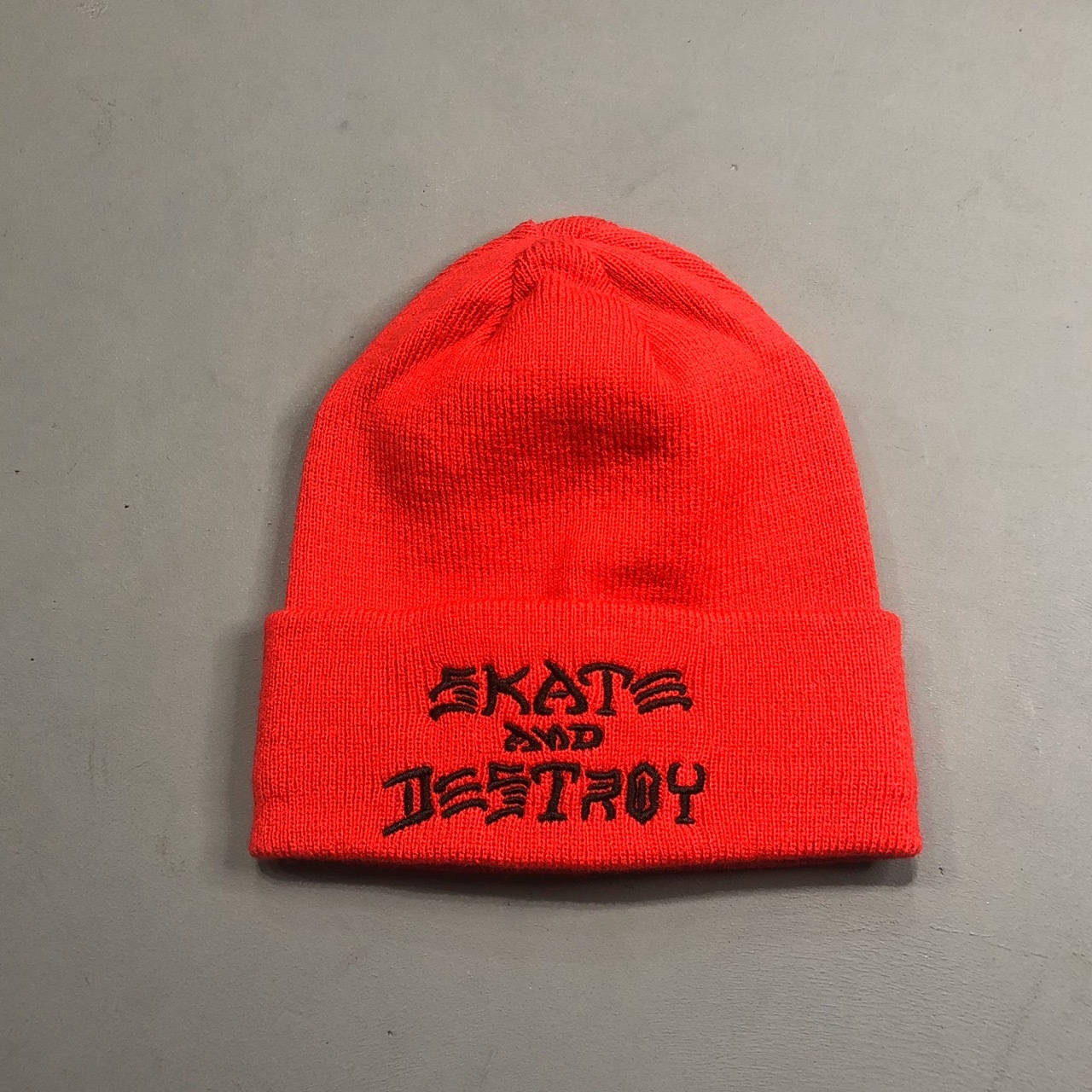 Шапка Thrasher Skate and Destroy Embroidered Beanie Red