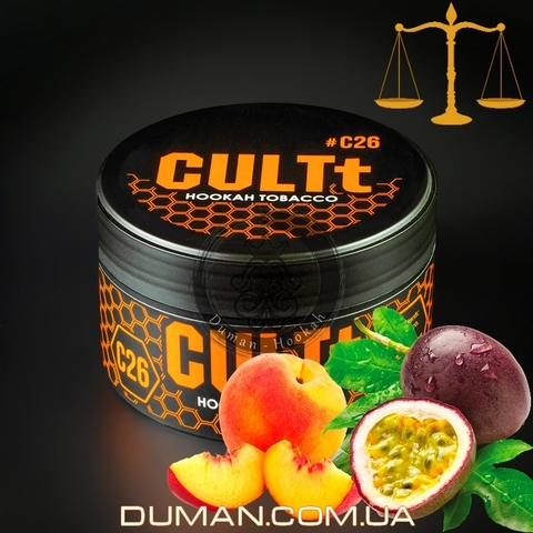 Табак CULTt C26 Passion Fruit Peach (Культ Маракуйя Персик) |На вес 25г