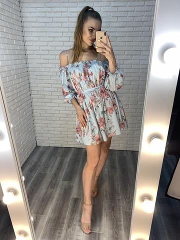 голубое летнее платье купить