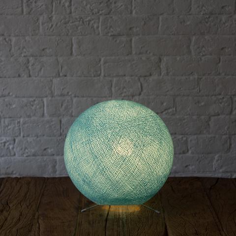 Хлопковый светильник нежно-голубой