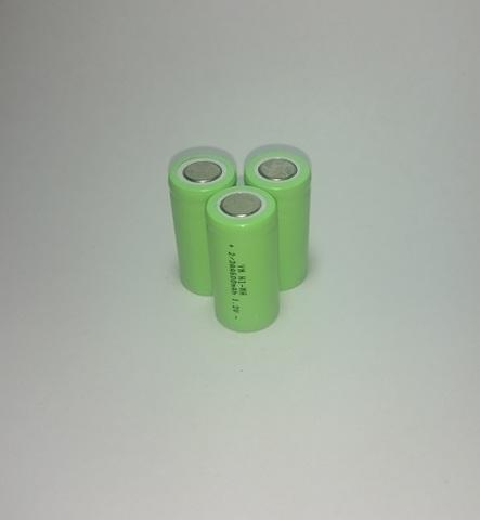 Аккумулятор 2/3АА Ni-Mh 600mAh 1,2V 0,7Wh