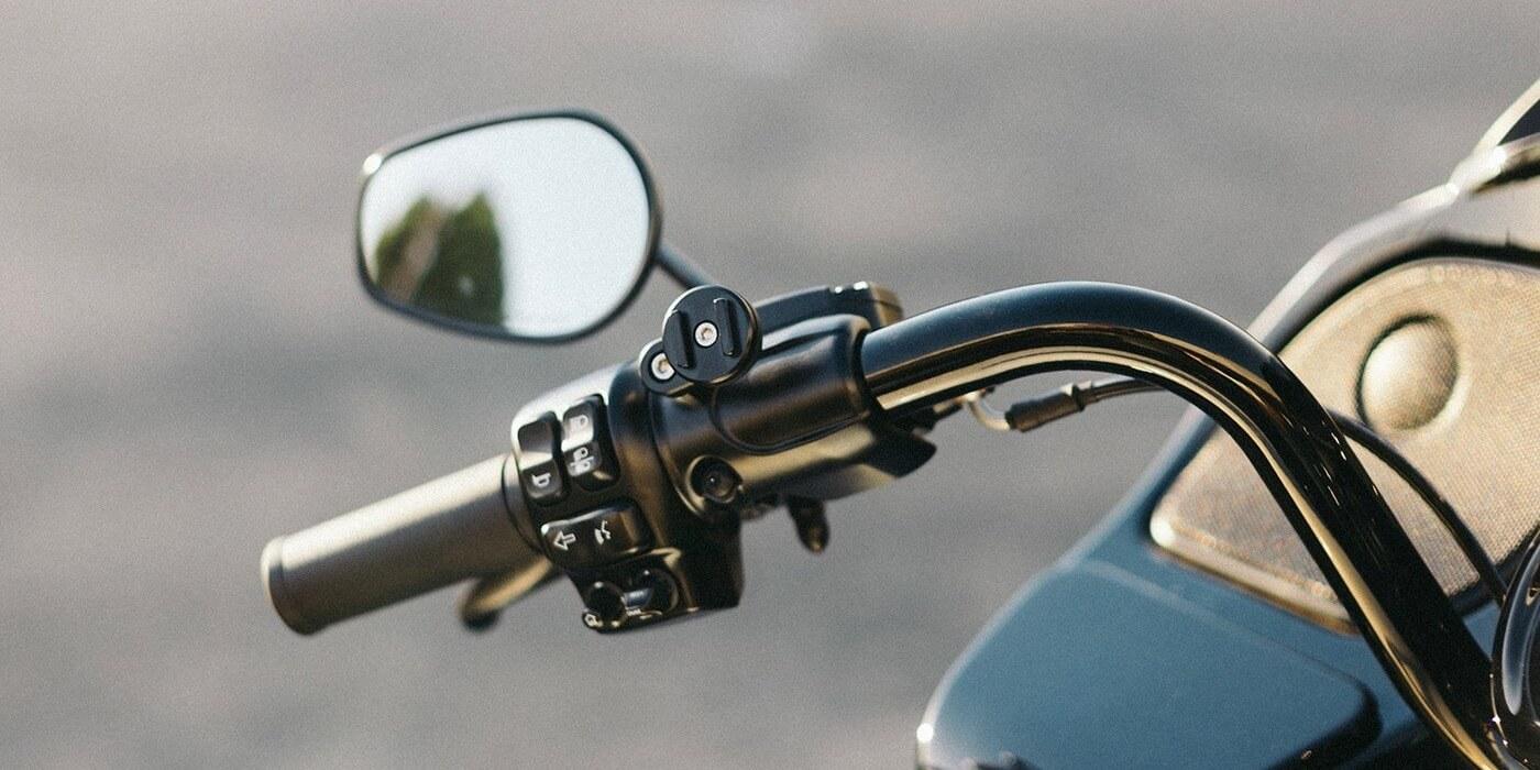 Винтовое поворотное крепление на руль мотоцикла SP Clutch Mount Pro на руле