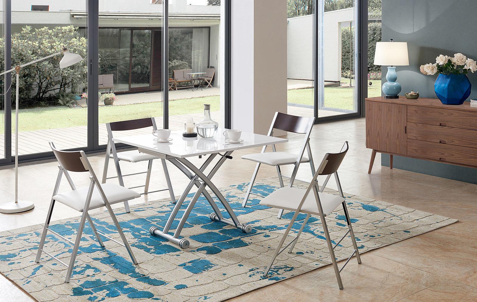 Стол-Трансформер 2242 и стулья ESF 3332 венге/белый