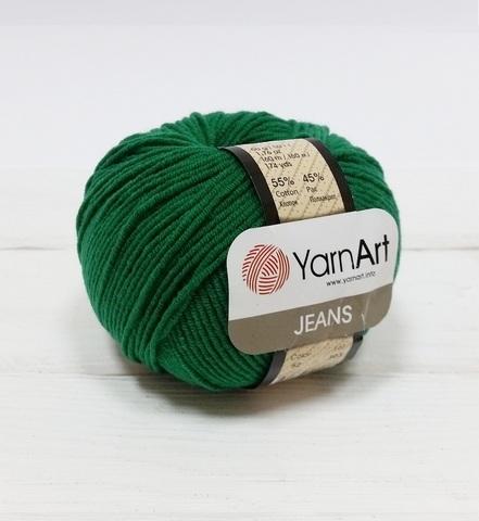 Пряжа YarnArt JEANS - (52-зелёный)