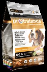 Корм ProBalance Immuno Adult Small and Medium для взрослых собак малых и средних пород