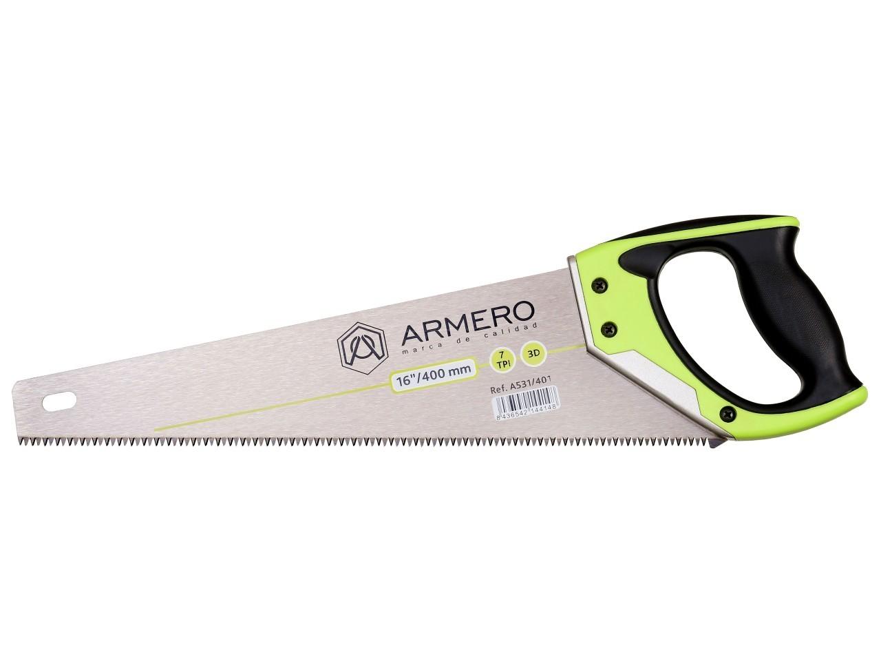 Ножовка по дереву A531/401, 400мм, 3d, средний зуб