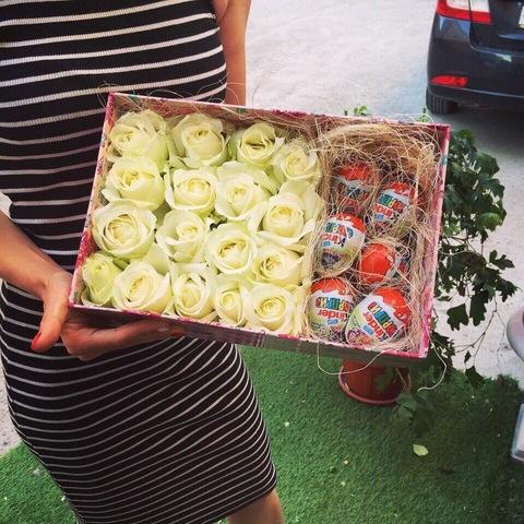 Розы и Kinder сладости #1970