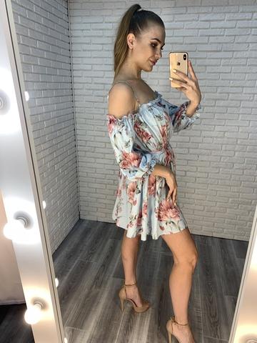 голубое летнее платье недорого