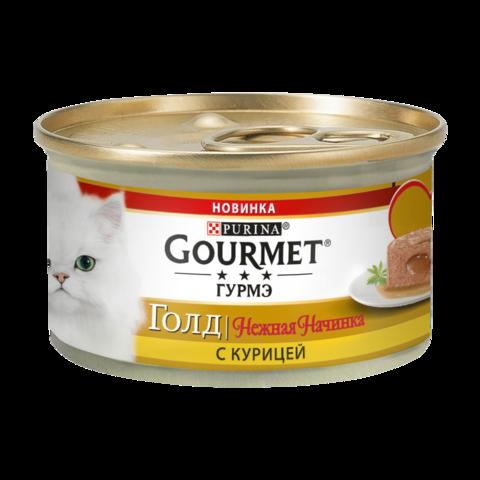 Gourmet Gold Консервы для кошек Нежная начинка с Курицей
