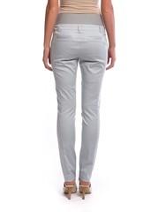 Зауженные брюки для беременных цвет светло серый