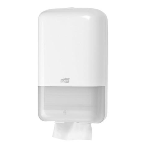 Диспенсер для туалетной бумаги в листах Tork Elevation Т3 556000 пластиковый белый