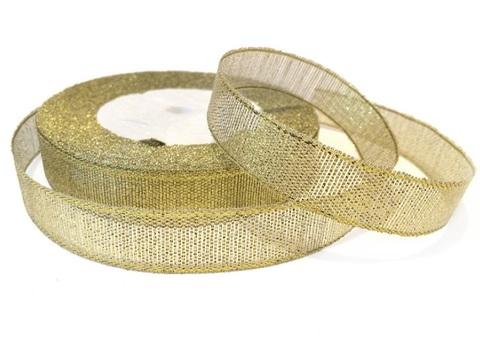 Лента парча 1,2см х 25ярд  золото