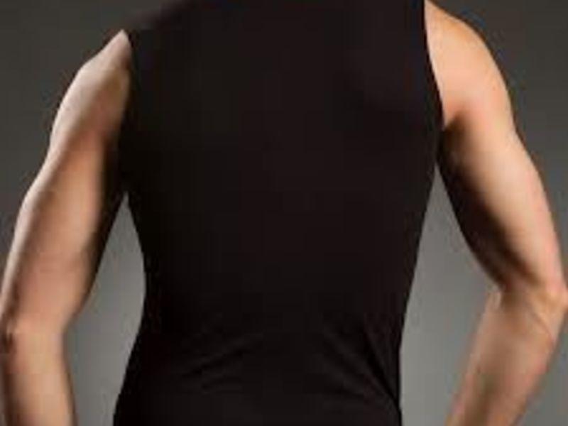 Мужская майка черная атлетическая из натурального хлопка Doreanse 2050
