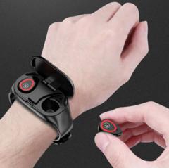 Lemfo M1 cмарт часы + беспроводные наушники