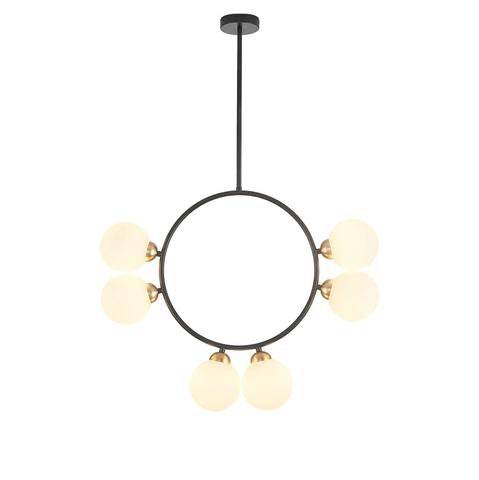 Потолочный светильник копия Circl by Atelier Areti 6 (черный)