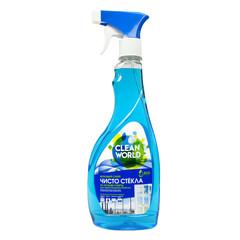 Средство для стекол и зеркал Чисто Стекла Clean World 500 мл (с нашатырным спиртом)
