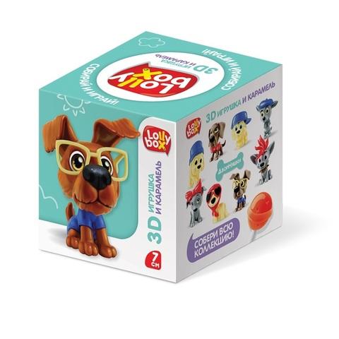 LOLLY BOX ДворНяшки Карамель на палочке с игрушкой в коробочке  1кор*12бл*10шт, 11,4 г