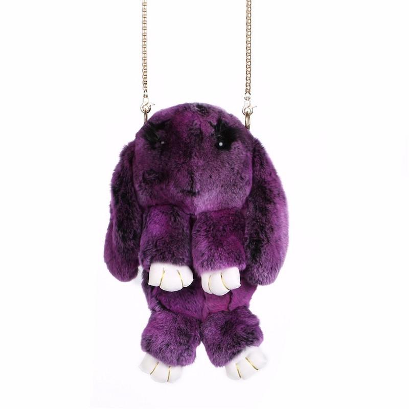 Тёмно-фиолетовый вариант цвета сумки кролик