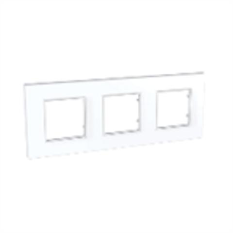 Рамка на 3 поста. Цвет Белый. Schneider Electric Unica Quadro. MGU2.706.18