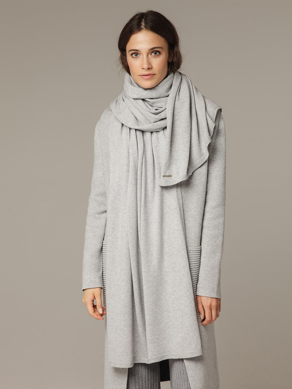 Женский шарф с добавлением кашемира - фото 1