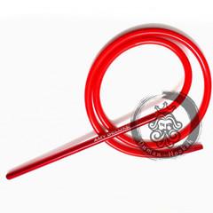 Cиликоновый шланг и алюминиевый мундштук AMY DeLuxe красный для кальяна
