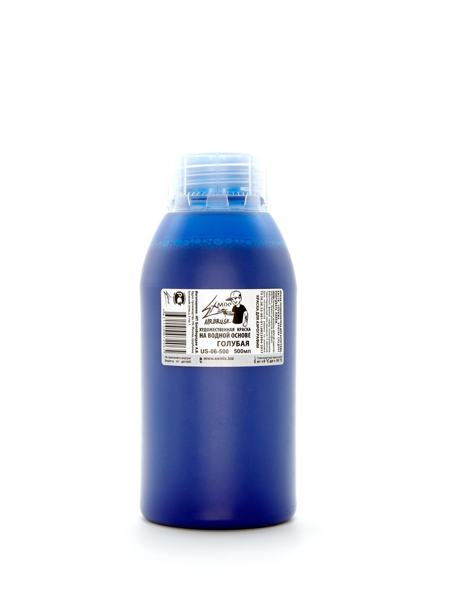 Краски Краска укрывистая Exmix 06 Голубой 500 мл US-06-500.jpg