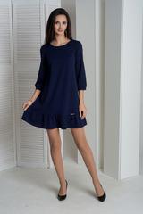 Ирма. Красивое платье свободного фасона. Синий