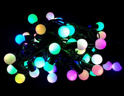 Разноцветные шарики гирлянда led нить string 10 м