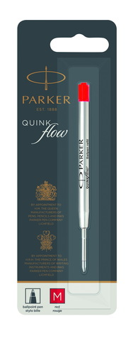 *Стержень для шариковой ручки Z08 в блистере QuinkFlow, размер: средний, цвет: Red123