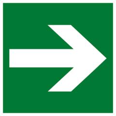 Е 02-01 Эвакуационный знак – Направляющая стрелка
