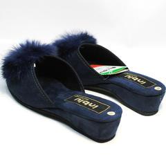 Тапки шлепки женские Inblu RR-7S Dark Blue
