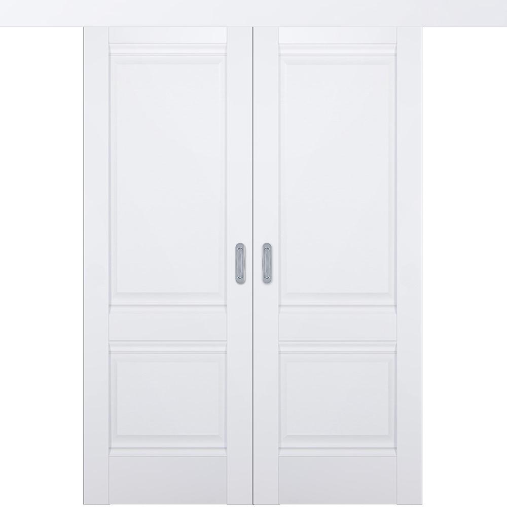 Двустворчатые раздвижные двери Межкомнатная двустворчатая дверь купе экошпон Profil Doors 1U аляска глухая 1u-alaska-dvertsovkd.jpg