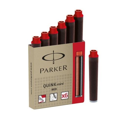 Картридж с чернилами для перьевой ручки MINI, упаковка из 6 шт., цвет: Red