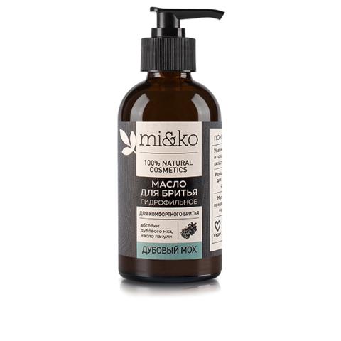 МиКо, Гидрофильное масло для бритья Дубовый мох, 100мл