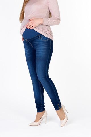 Утепленные джинсы для беременных (SKINNY) 10010 синий